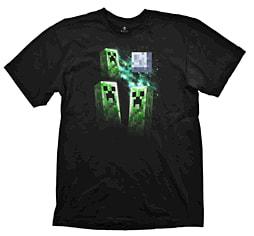 Minecraft Three Creeper Moon T-Shirt (Medium) Clothing and Merchandise