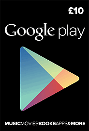 Google Play £10 Gifts