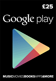 Google Play £25 Gifts