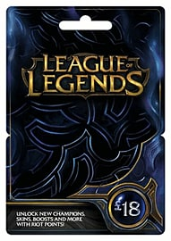 League of Legends £18 Game Card Gifts