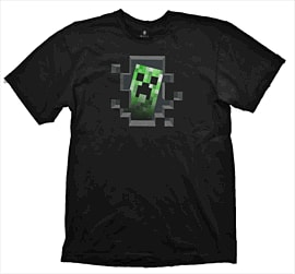 Minecraft T-Shirt - Creeper Inside - Size L Clothing and Merchandise