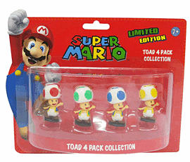 Super Mario Bros Mini Figure Pack: Toad Toys and Gadgets