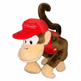 Sanei Super Mario Bros Plush - Diddy Kong (20cm) Toys and Gadgets