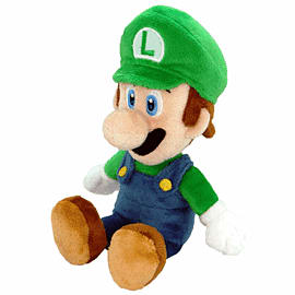 Sanei Super Mario Bros Plush - Luigi (30cm) Toys and Gadgets