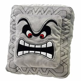 Sanei Super Mario Bros Plush Cushion - Thwomp (35cm) Toys and Gadgets