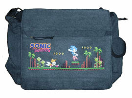Sonic the Hedgehog Messenger Bag: Green Hill (35x25x10cm) Clothing and Merchandise