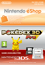 Pokedex 3D Pro Nintendo 3DS Cover Art