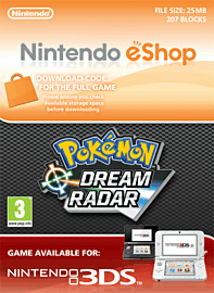 Pokemon Dream Radar Nintendo 3DS Cover Art