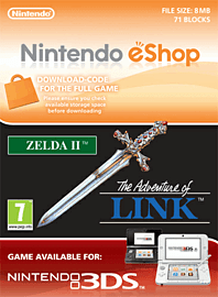 Zelda II: The Adventure of Link Nintendo 3DS Cover Art