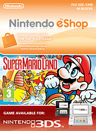 Super Mario Land Nintendo 3DS Cover Art