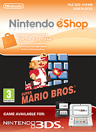 Super Mario Bros. Nintendo 3DS Cover Art