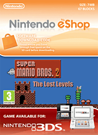 Super Mario Bros. 2: The Lost Levels Nintendo 3DS Cover Art