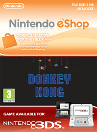 Donkey Kong Nintendo 3DS Cover Art