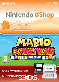 Mario and Donkey Kong: Minis on the Move Nintendo 3DS Cover Art