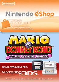 Mario vs. Donkey Kong: Minis March Again! Nintendo 3DS Cover Art