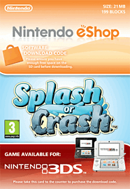 Splash or Crash Nintendo 3DS Cover Art