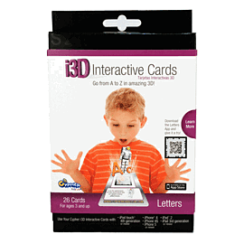 Cypher Kids 3D Interactive Cards - Letters Toys and Gadgets