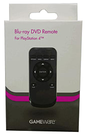 GAMEware Blu-Ray DVD Remote for PlayStation 4 Accessories