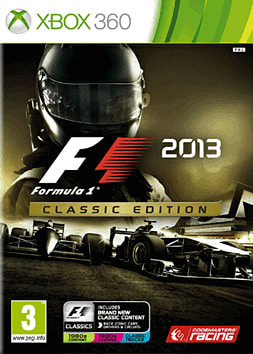 F1 2013 Classic Edition Xbox 360 Cover Art