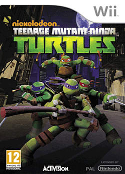 Teenage Mutant Ninja Turtles Wii Cover Art