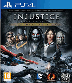 Injustice Ultimate Edition PlayStation 4 Cover Art