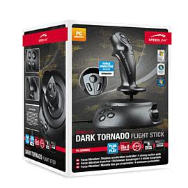 SPEEDLINK Dark Tornado USB Joystick with Force Vibration Accessories