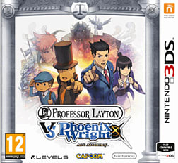 Professor Layton vs Phoenix Wright: Ace Attorney 3DS Cover Art