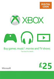 Xbox Live £25 Credit Xbox Live £25 Credit Cover Art
