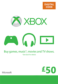 Xbox Live £50 Credit Xbox Live £50 Credit Cover Art