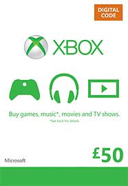 Xbox Live £50 Credit Xbox Live £50 Credit