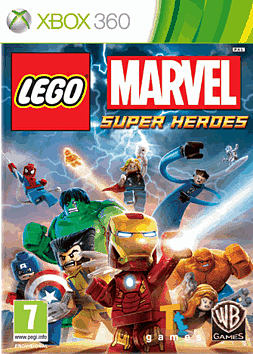 LEGO Marvel Super Heroes Super Pack Edition Xbox 360 Cover Art