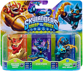 Skylanders SWAP Force Triple Character Pack - Star Strike, Gill Grunt and Trigger Happy Toys and Gadgets