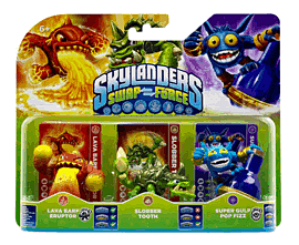 Skylanders SWAP Force Triple Character Pack - Slobber Tooth, Eruptor and Pop Fizz Toys and Gadgets