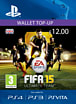FIFA 15 Ultimate Team Wallet £12 Top Up PlayStation Network