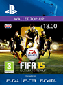 FIFA 15 Ultimate Team Wallet £18 Top Up PlayStation Network