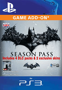 Batman: Arkham Origins Season Pass PlayStation Network Cover Art