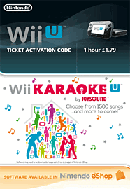 Wii U Karaoke 1 Hour Ticket eShop Cover Art