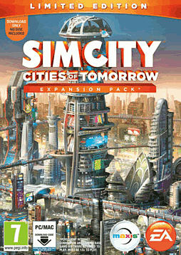 SimCity: Cities of Tomorrow Limited Edition Expansion Pack PC Games Cover Art
