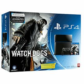 PlayStation 4 Console with Watch Dogs Special Edition PlayStation 4 Cover Art