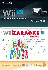 Wii U Karaoke 24 Hour Ticket eShop Cover Art