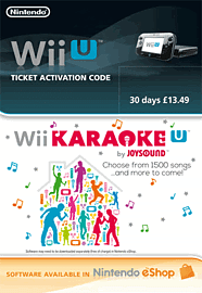 Wii U Karaoke 30 Day Ticket eShop Cover Art