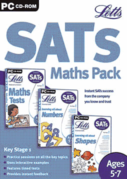 Letts Triple Pack - SATS Maths KS1 (5-7) Computing