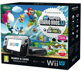 Black Wii U Mario and Luigi Premium Pack Wii U