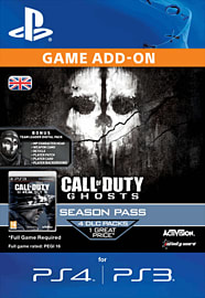 Call of Duty: Ghosts Season Pass PlayStation Network Cover Art
