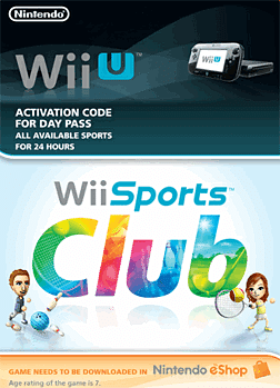 Wii Sports Club 24 Hour Pass eShop Cover Art