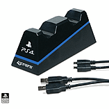 Officially Licensed CHARGE - Twin Play & Charge Cables for PS4 (Black) screen shot 3