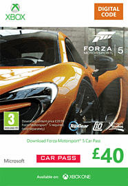 Forza Motorsport 5 Car Pass Xbox Live Cover Art