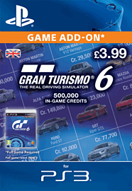 Gran Turismo 6: 500,000 In-Game Credits PlayStation Network Cover Art