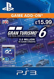 Gran Turismo 6: 2.5 Million In-Game Credits PlayStation Network Cover Art