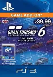 Gran Turismo 6: 7 Million In-Game Credits PlayStation Network Cover Art